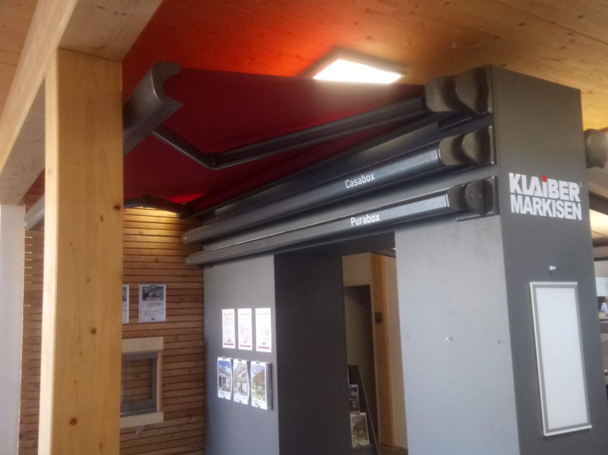 Markise in unserer Ausstellung in Oelde.