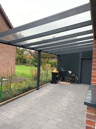 Aluminium-Carport in Münster
